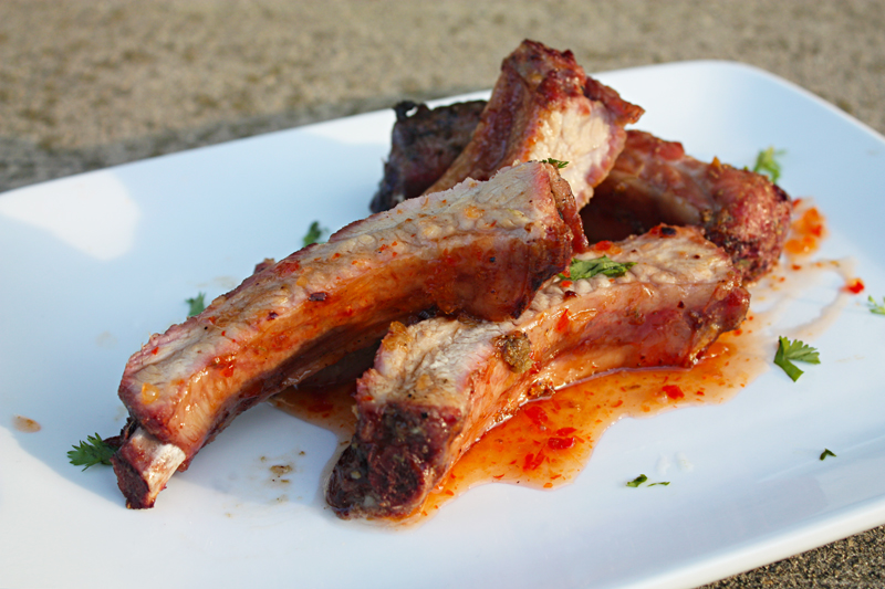 Grilled Baby Back Ribs with Thai Sweet Chili Sauce