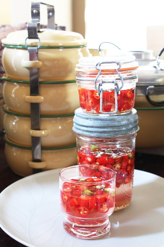 Vinegar with Pickled Chilies
