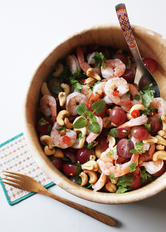 Grape-Shrimp-Cashew-Salad