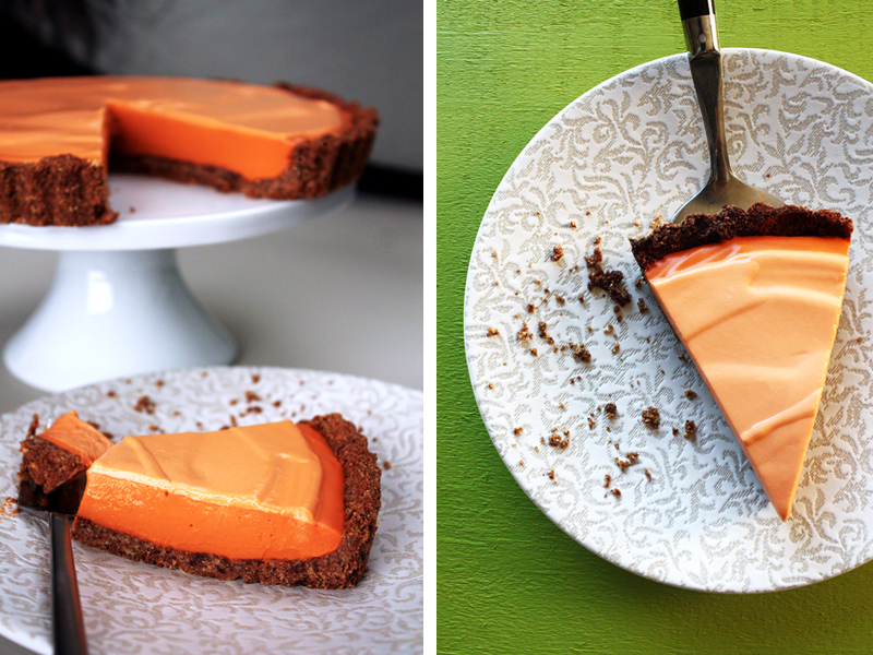 Thai Tea Cheesecake from The Heart of the Plate by Mollie Katzen