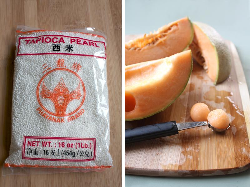 Chilled Tapioca-Cantaloupe-Coconut Milk Dessert Soup