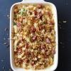 Hot Soppressata Macaroni and Cheese with Crispy Leeks