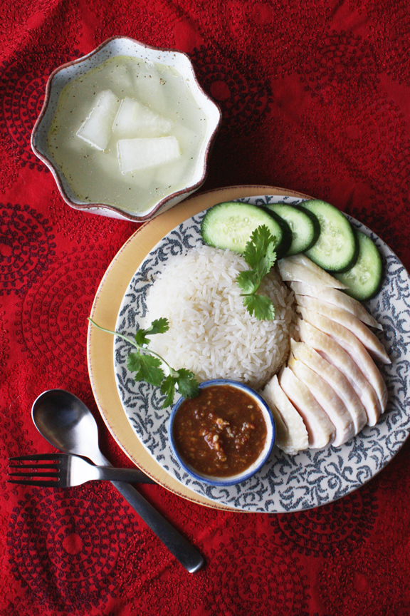 Khao Man Gai - Thai Adaptation of Hainanese Chicken Rice
