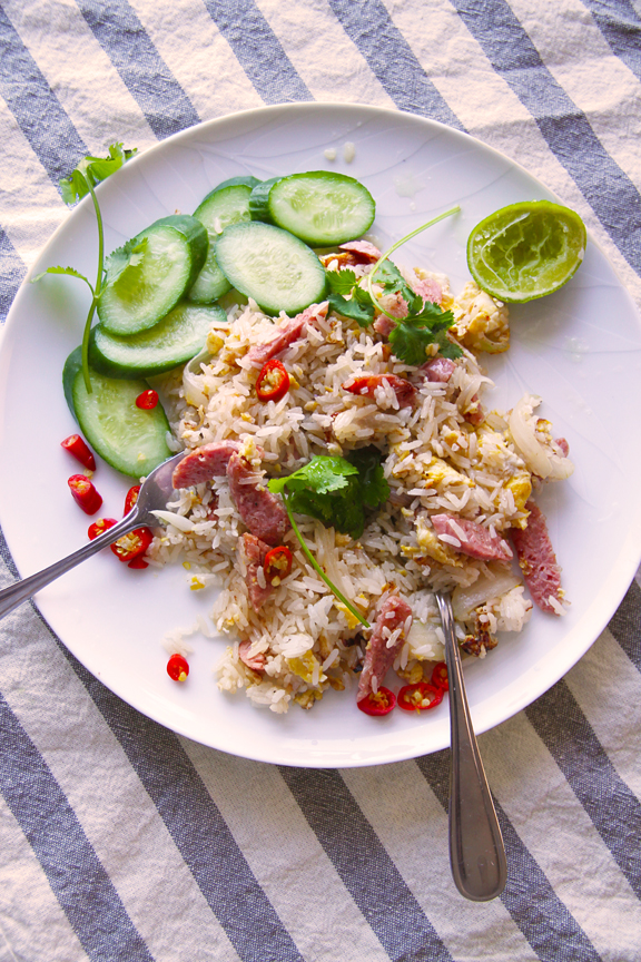 Fried Rice with Cured Pork