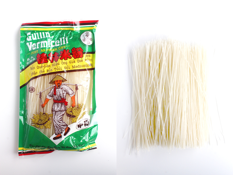 how to prepare rice vermicelli khanom jin from dried noodles
