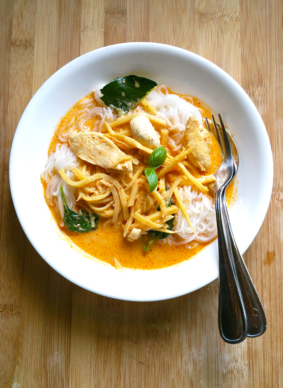 how to cook khanom jin rice noodles from dried noodles